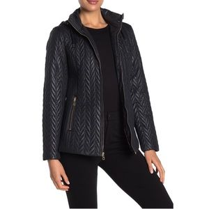 Kate Spade Water Resistant Quilted Moto Jacket